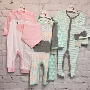 Bundle of Cloud Island 3-6 Months Rompers